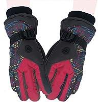 (Baoxinjp) メンズグローブ ファッション手袋 スキーグローブ 保温 防寒 スノーグローブ スポーツ バイク 手袋
