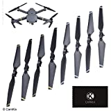 CamKix Propellers replacement for DJI Mavic Pro - 2 Set (8 Blades) - Gray + White - Quick Release Foldable Wings - Flight Tested - Essential DJI Mavic Pro Accessory - Excellent Reliability
