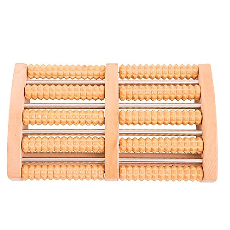 栄光のストレスの多いレンズ足裏マッサージローラー 実用的な木製フットマッサージャー多機能デュアルマッサージローラーマニュアルフットマッサージャー 軽量で使いやすく、足の痛みを和らげます (Color : As picture, Size : 32x.5x20x7cm)