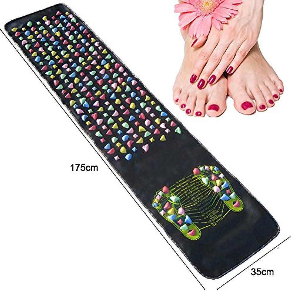 Fairmall 足つぼマット マッサージマット フットマッサージマット 健康 足ツボ 刺激 足裏指圧器 (175cm * 35cm)
