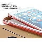 HelloGO iPhoneケース iPhoneカバー 手帳型ケース iphone7 iphone8 スマホケース 薄型 耐衝撃 軽量 傷防止 携帯カバー カードポケット付き シリコンタイプ 便利(レッド)