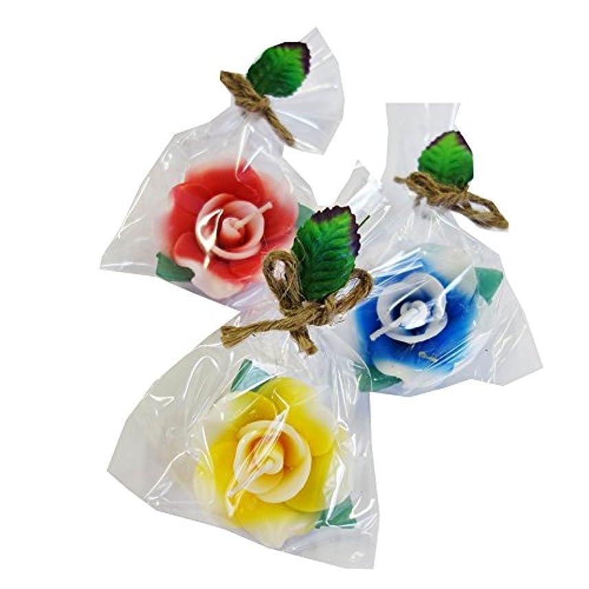 傷つきやすい快適供給フローティングキャンドル 薔薇M?3個セット