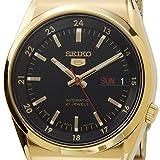 [セイコー]SEIKO 日本製 セイコー ファイブ SEIKO 5 SNK576J1 ブラック×ゴールド 自動巻き 腕時計 メンズ ウォッチ [逆輸入品]