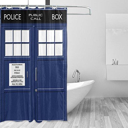 RoomClip商品情報 - マキク(MAKIKU)シャワーカーテン おしゃれ 防カビ 防水 北欧 バスカーテン 締めるドア ブルー ユニットバス 風呂カーテン 浴室 間仕切り 取付簡単 カーテンリング付属 150x180