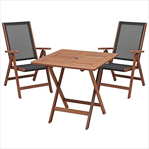 RoomClip商品情報 - 山善(YAMAZEN) テーブル・チェアセット ガーデンマスター フォールディング テーブル&チェア(3点セット) MFT-88192&MFC-259(2脚)