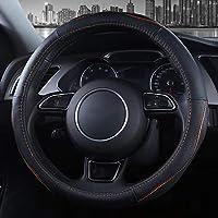 車のステアリングホイールカバー本革ユニバーサルサイズ37-38CM / 14.6-15インチ複数色 ( 色 : A3 )