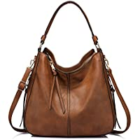 Synthetic Leather Handbags for Women Shoulder bag Cross Body Bag Designer Handbags Large Tote Bag Hobos Bag with tassel Dark Brown