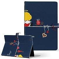 Quatab 01 KYT31 kyocera 京セラ Qua tab タブレット 手帳型 タブレットケース タブレットカバー カバー レザー ケース 手帳タイプ フリップ ダイアリー 二つ折り その他 天使 クリスマス イラスト quatab01-005187-tb