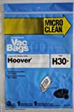 Hooverタイプh30キャニスター掃除機バッグにフィットするように設計Hoover Telios Canister (タイプh30+)。パッケージには、3Microlined紙バッグ、1セカンダリフィルタ& 1最終フィルタ