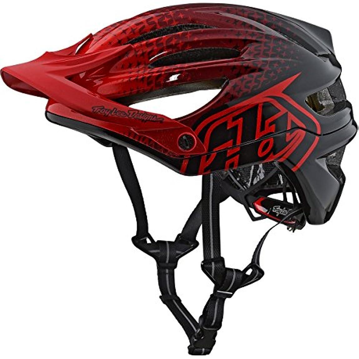 辛なチャンス永続Troy Lee Designs 2018 A2 MIPSスターバースト自転車用ヘルメット - レッド - XL / 2XL