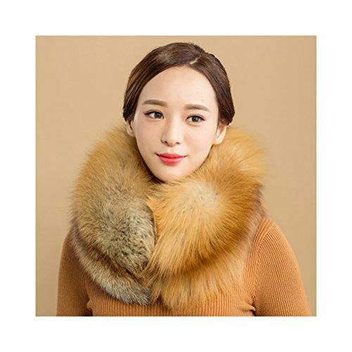 Fox fur stole large-format 120 × 15CM Women's fur fur shawl real fur scarf fur stole wedding kimono fur shawl fur tippet large format stall Brown White