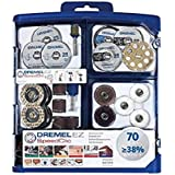 Dremel 725 EZ SpeedClic Multi Purpose Tool Accessory Kit for Rotary Tools - 70 Accessories for Cutting, Carving, Sanding, Cle