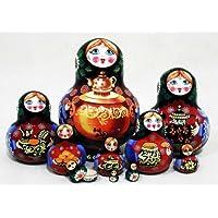 Samovar Russian Nesting Doll 10pc./5 by Golden Cockerel [並行輸入品]