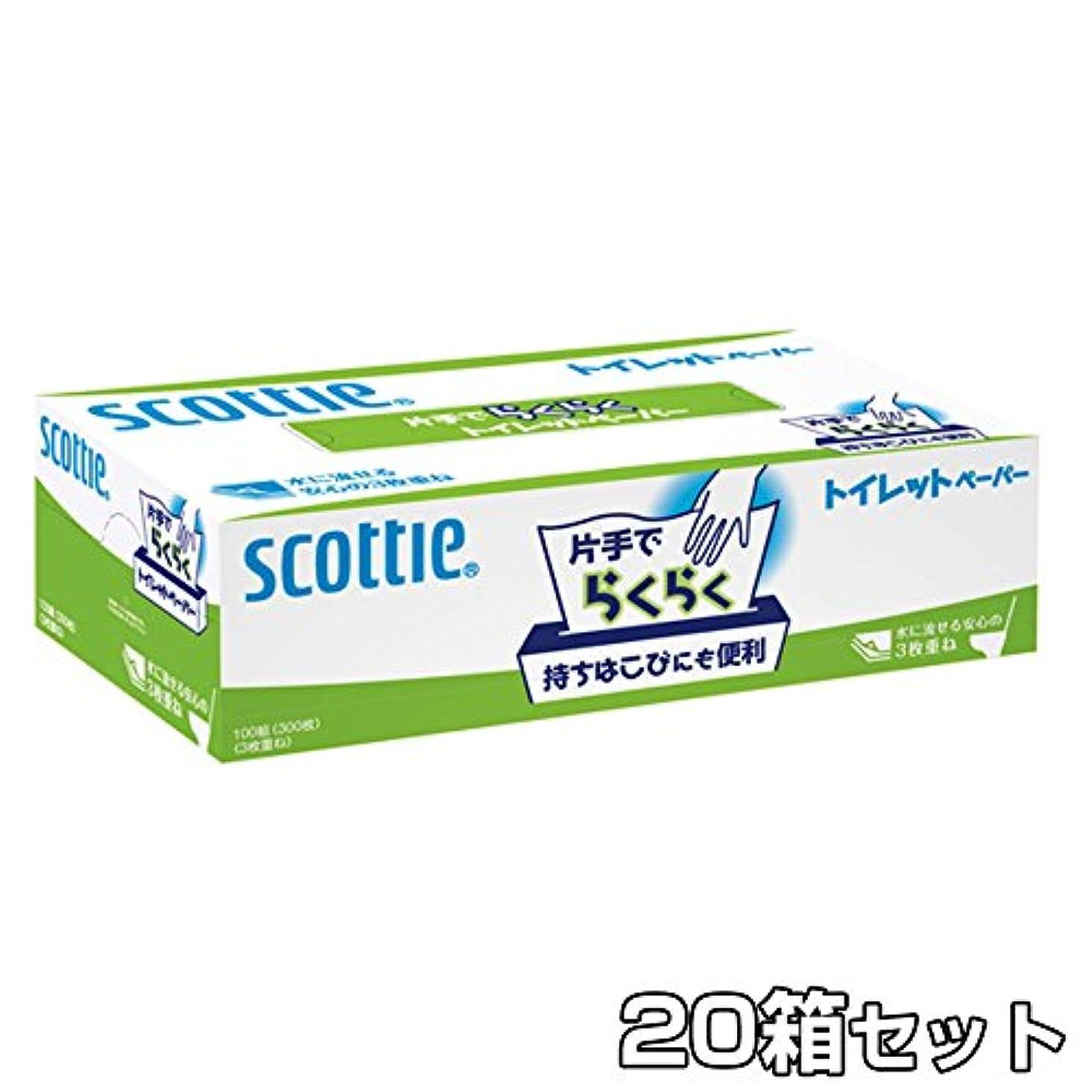 橋脚論争の的頬日本製紙クレシア スコッティ 片手でらくらくトイレットペーパー300枚(100組)×20入セット 29100