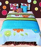 Best Bacati布団セット - Valley of Flowers Aqua multicolor Full/Queen Comforter set Review