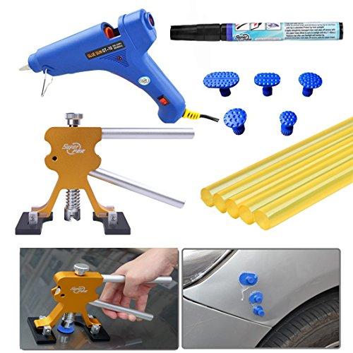 Toppdrsuper 自動車デントリペア凹み 修理工具 DIY 13点セット 修復ペン