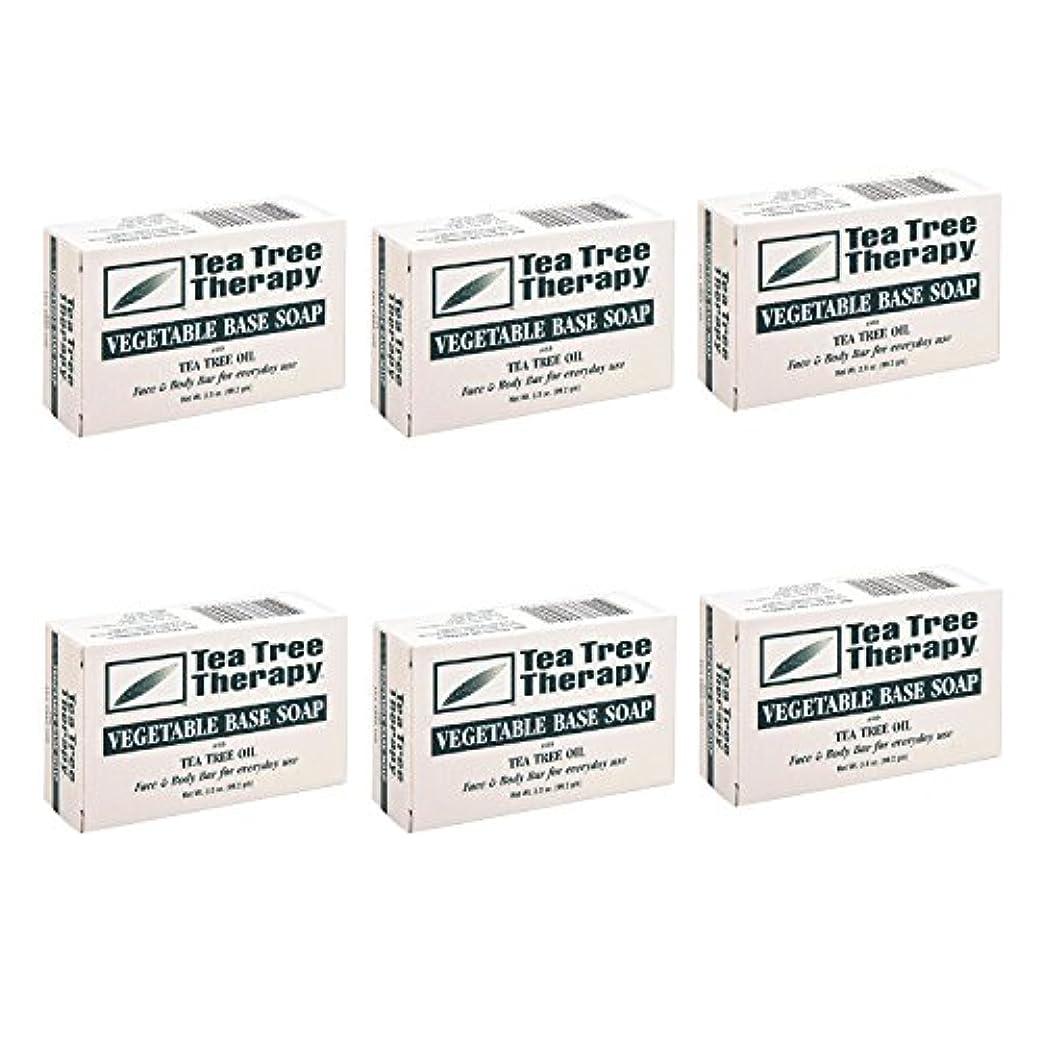 困惑した定義する無実Tea Tree Therapy, Soap Bar, Vegetable Base, 3.5 oz (6-Pack) by Tea Tree Therapy