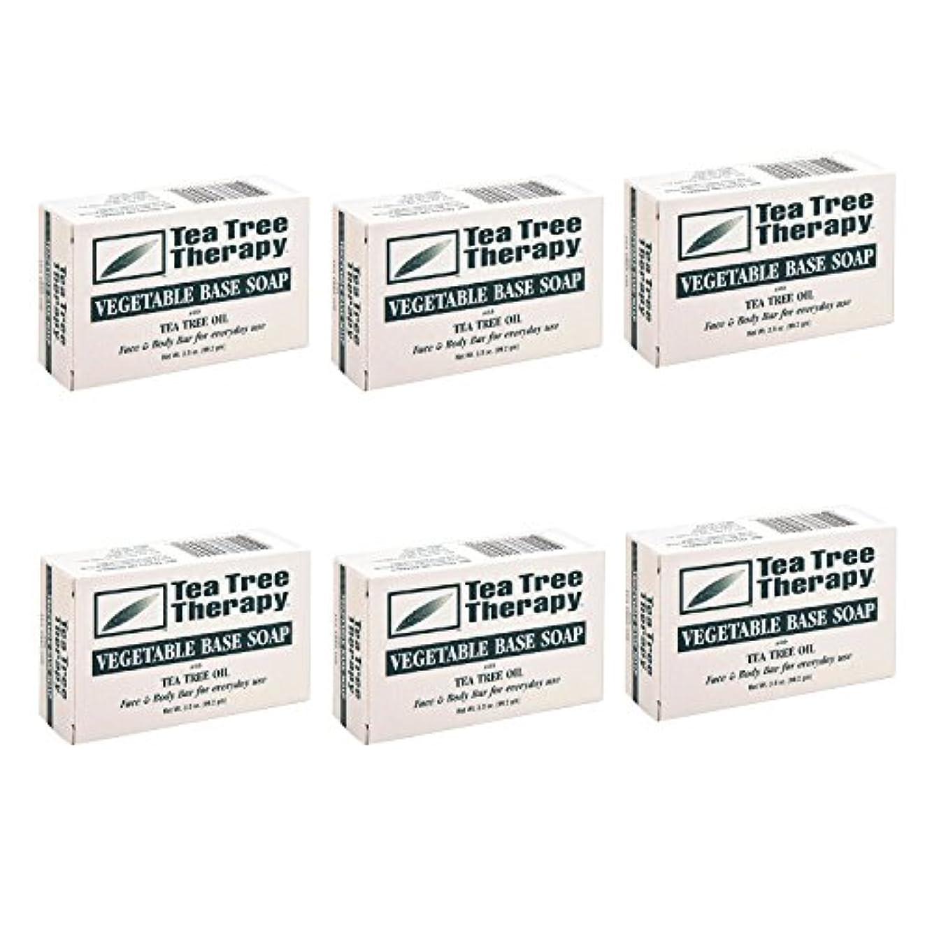 インテリアに対してTea Tree Therapy, Soap Bar, Vegetable Base, 3.5 oz (6-Pack) by Tea Tree Therapy