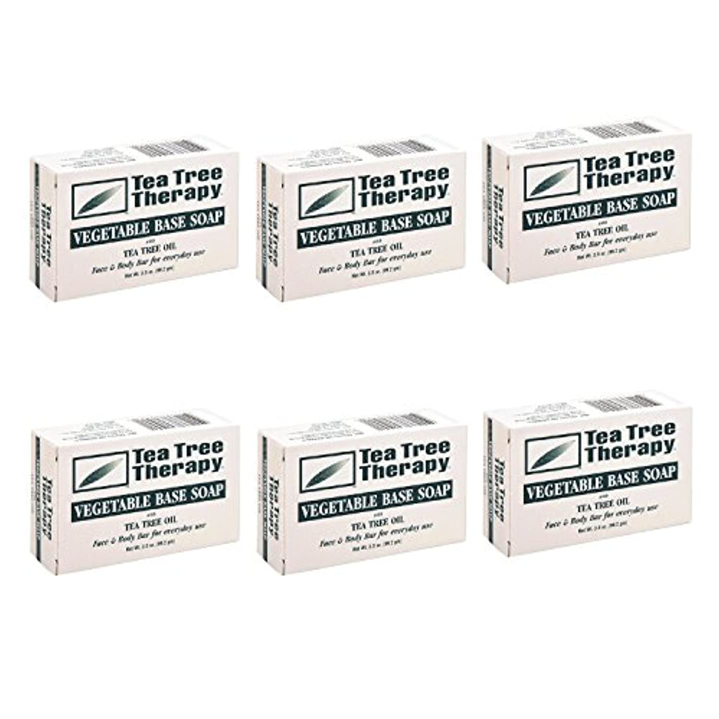 Tea Tree Therapy, Soap Bar, Vegetable Base, 3.5 oz (6-Pack) by Tea Tree Therapy
