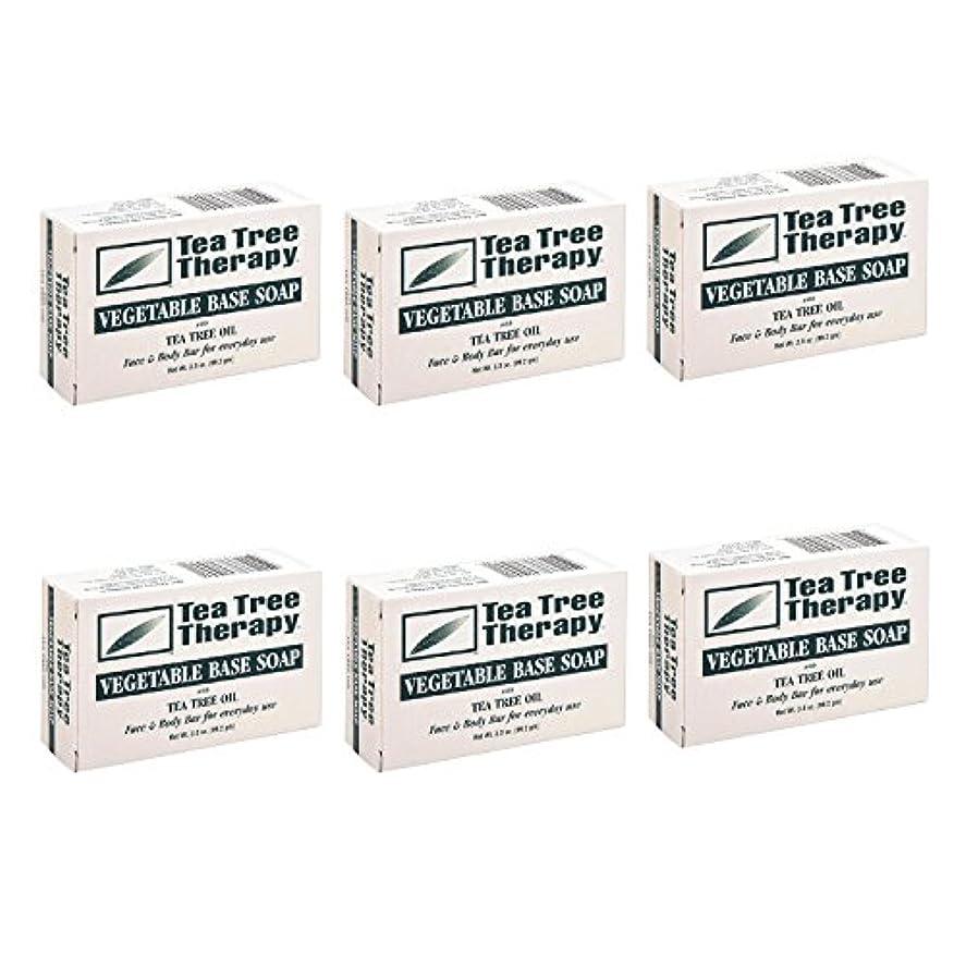 にじみ出るムス検出Tea Tree Therapy, Soap Bar, Vegetable Base, 3.5 oz (6-Pack) by Tea Tree Therapy