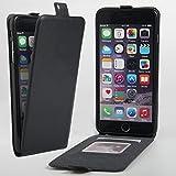 DINGXIN iPhone6 Plus ケース iPhone6s Plus ケース 縦開き 耐衝撃 薄型 左利き マグネット PUレザー アイフォン6プラス アイフォン6sプラス スマホケース タッチペン付き (ブラック)