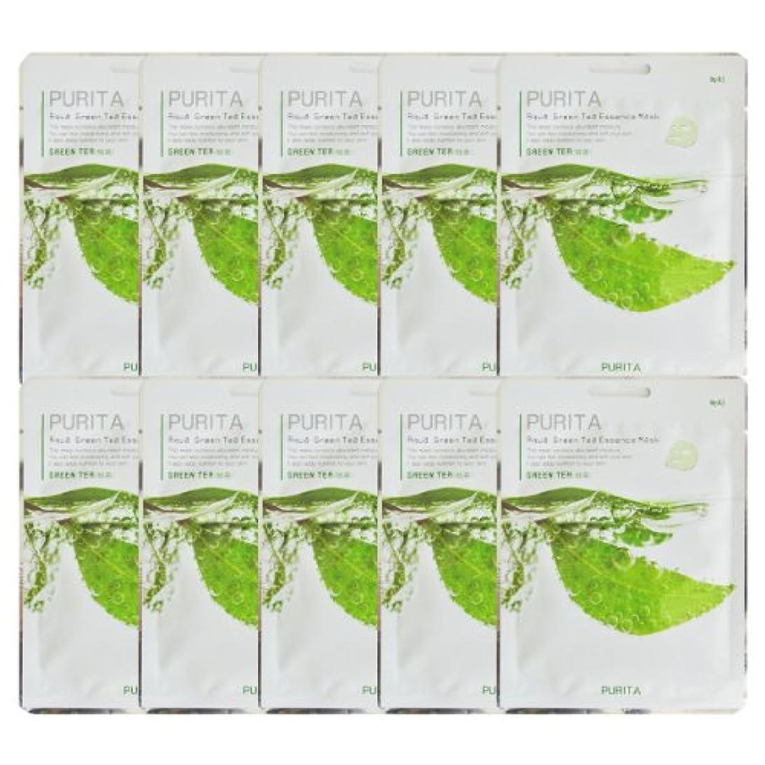 評価ゴールデンなしでPURITA ピュリタ エッセンスマスク 緑茶 10枚セット