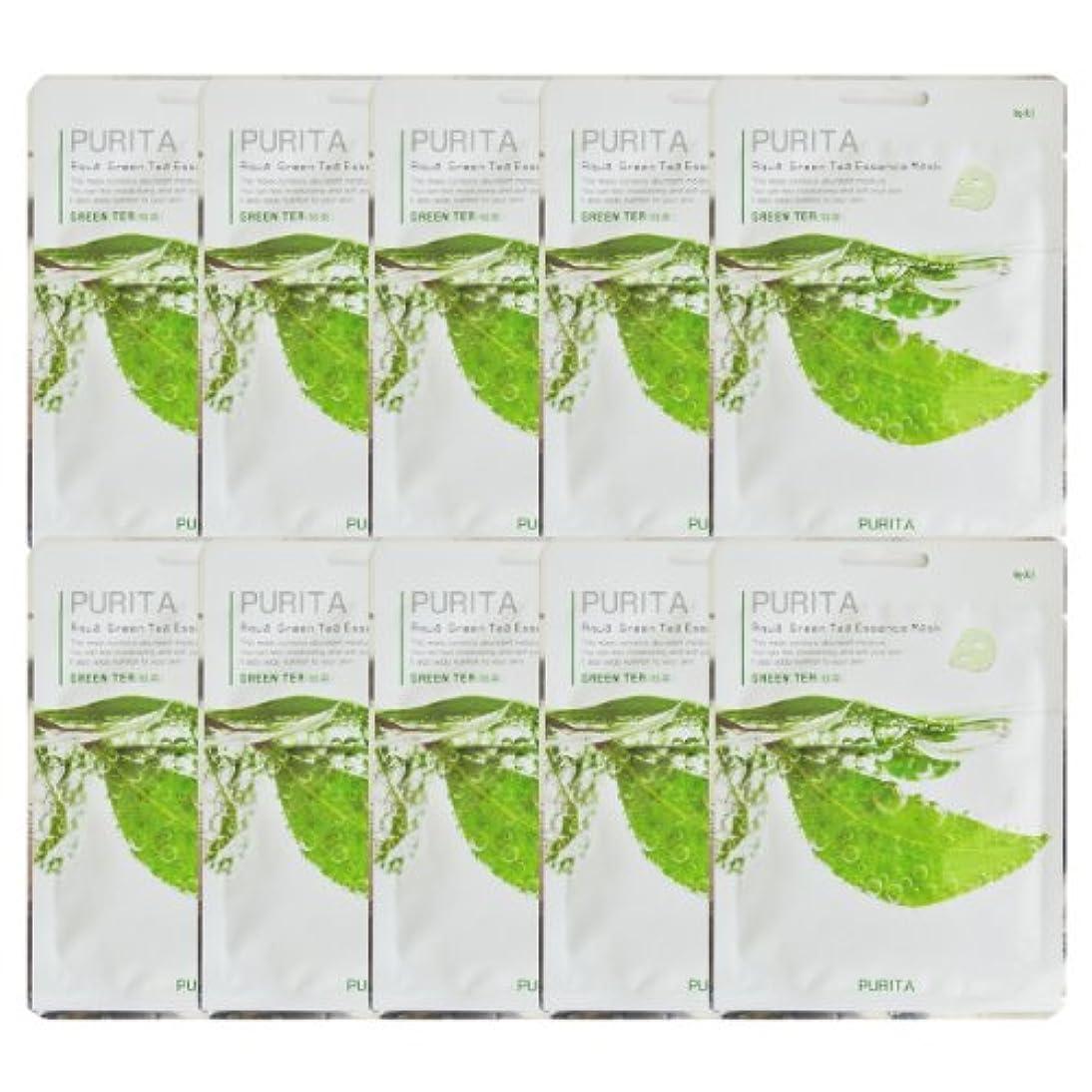 適合ピン錫PURITA ピュリタ エッセンスマスク 緑茶 10枚セット