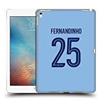 オフィシャルManchester City Man City FC Fernandinho Luiz Roza 2017/18 プレイヤーズ・ホームキット グループ1 iPad Pro 9.7 (2016) 専用ハードバックケース