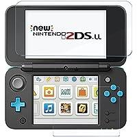 RoiCiel Nintendo 2DS LLガラスフィルム  Newニンテンドー2DS LL『上・下セット』 用強化ガラス 高精細 クリスタル透明度 9H硬度 ガラス飛散防止 指紋防止 気泡ゼロ (Newニンテンドー2DS LL)