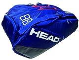 HEAD(ヘッド) テニス ラケットバック イーエススーパーコンビ 9R (9本収納可) 283687 ネイビー×ブルー(NVBL)