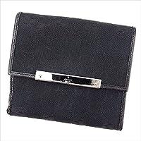 (グッチ)GUCCI Wホック 財布 二つ折り レディース メンズ 可 112664 GGキャンバス 中古 T2997