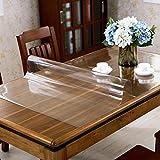 IYHUO テーブルクロス 透明 PVC製 厚さ1.5mm 長方形 テーブルカバー デスクマット テーブルマット 防水 撥水 耐熱 耐久 汚れ防止