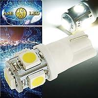 ヴィッツ ポジション球 T10 LED 5連 砲弾型 ホワイト1個 as02