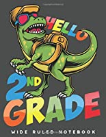 Wide Ruled Notebook: Dinosaur 2nd Grade Wide Ruled Journal