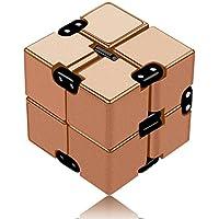 Infinity Cube Toys 無限キューブ 任意の方向と角度から回転でき ストレス消し 悪習に改善して おもちゃ マジック (ローズゴールド)
