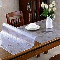 柔らかいガラスのテーブルクロスPVC霜降りテーブルマット紅茶テーブルマットプラスチックパッド防水オイル防止アンチホットスムーステーブルクロス ( 色 : Style2 , サイズ さいず : 85*140cm )