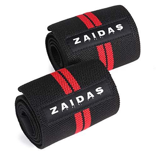 ZAIDAS(ザイダス) リストラップ リストバンド 筋トレ 手首サポーター (ブラック/レッド)
