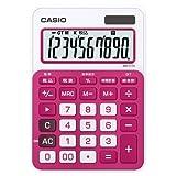 [カシオ 8166807] カラフル電卓 10桁 ルージュピンク MW-C11A-RD-N