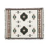 Unigarden.Ju マルチカバー 北欧 柄 綿製品のブランケット 多機能 カーペット 幾何 130X160, ホワイト 幾何