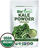 BioFinest Kale Vegetable Powder - 100% Pure Freeze-Dried Antioxidants Superfood - Usda Certified Organic Kosher Vegan Raw Non-Gmo - Boost Digestion Skin Health - For Smoothie Beverage Blend (4 Oz)
