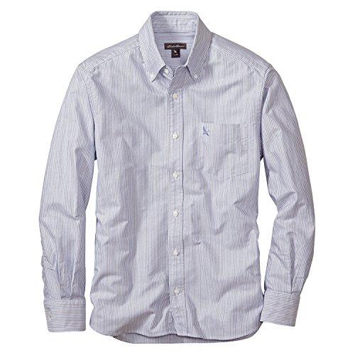 (エディー・バウアー) Eddie Bauer 長袖オックスフォードマルチストライプロゴボタンダウンシャツ(グースロゴ刺しゅう入り)(グレープ M)