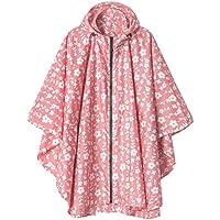 LINENLUX Women Rain Jacket Hooded Coat with Pockets Outdoors