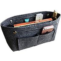 APSOONSELL Bag Organizer バッグインバッグ フェルト 小さめ オーガナイザー インナーバッグ 軽量 自立 8ポケット 整理