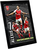 Arsenal F.C. アーセナル F.C. グラス プレイヤー プロフィール サンチェス 8 x 6 / ポスター