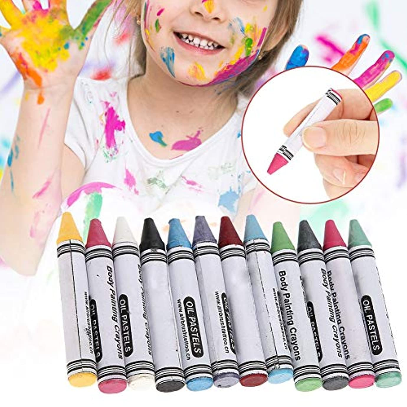 外科医独裁因子12色 人体の彩絵クレヨン、パーティー祝日 子供用 環境保護 プレゼント