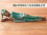 ブロンズの美しい質感と重厚感が特徴の涅槃仏 ブッダ お釈迦様 インテリア オブジェ
