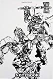 """Notebook: A Pen Drawing About Nemesis Fighting Against Bumb , Journal for Writing, College Ruled Size 6"""" x 9"""", 110 Pages"""