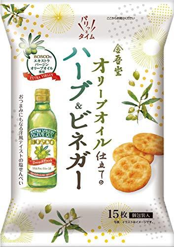 オリーブオイル仕立ての塩せんべいハーブ&ビネガー風味 15枚 ×12袋