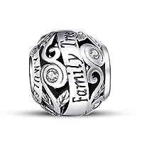 Glamuletジュエリー–ファミリーツリーオープンワークチャーム–- 925スターリングシルバー
