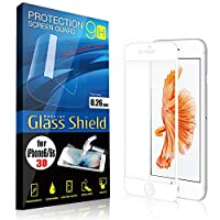 AnglersLife iPhone6/6s 液晶保護フィルム 0.26mm 3D 9H ガラスシールド(白)